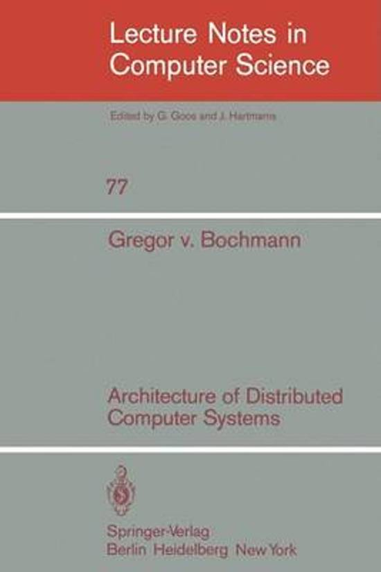 Architecture of Distributed Computer Systems