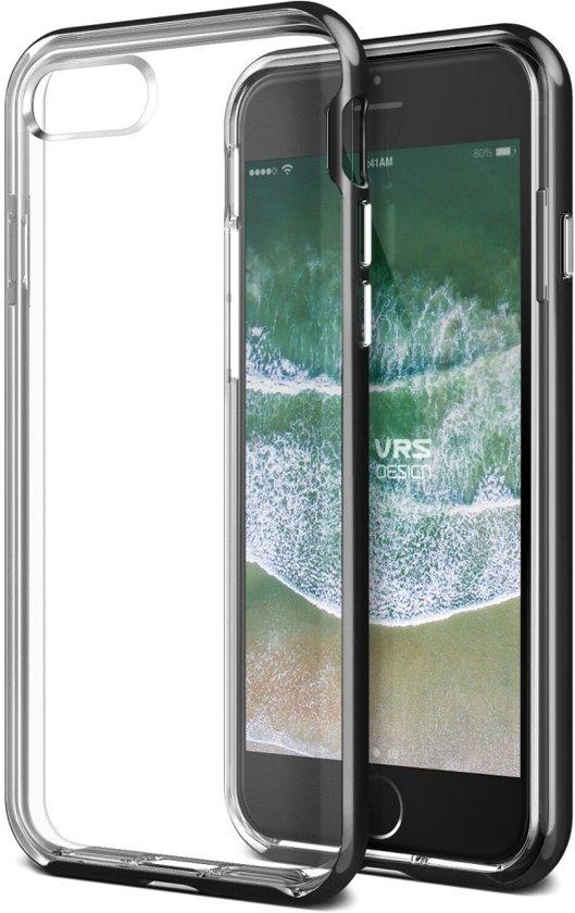VRS Design Crystal Bumper Case Apple iPhone 8 - Metal Black in Ewer