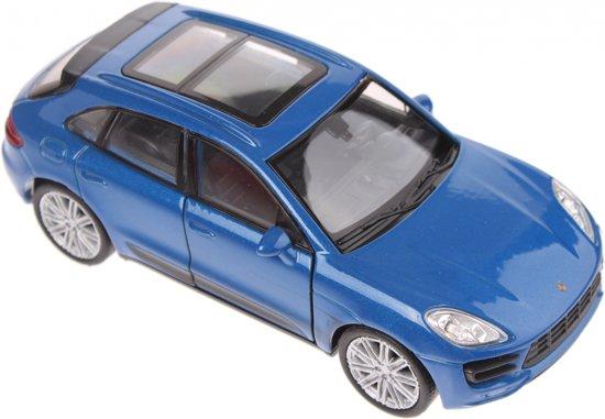 Bol Com Welly Schaalmodel Porsche Macan Turbo Blauw Welly Speelgoed