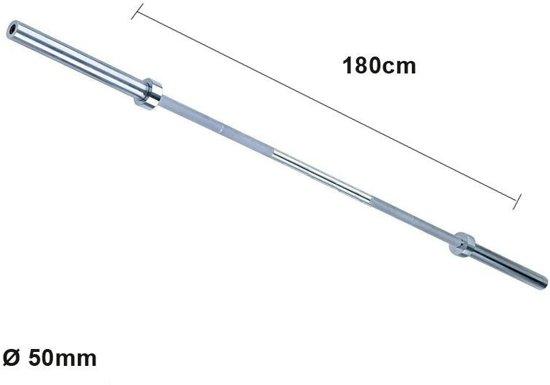 Olympische halterstang 180cm - Focus Fitness