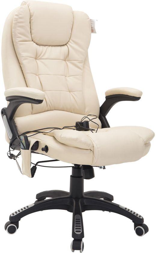 Bureaustoel Met Verwarming.Bureaustoel Massage Chef Burostoel Met Warmtefunctie Creme Luxe Design