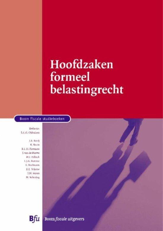 Boom fiscale studieboeken Hoofdzaken formeel belastingrecht