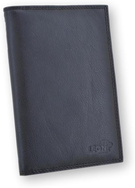 LeonDesign - 16-P2208-04 - mapje voor autopapieren - Zwart - leer