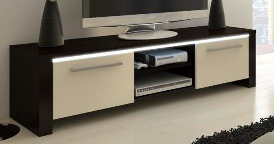Led Verlichting Kast : Bol tv meubel tv kast orlanda met led verlichting wenge cream
