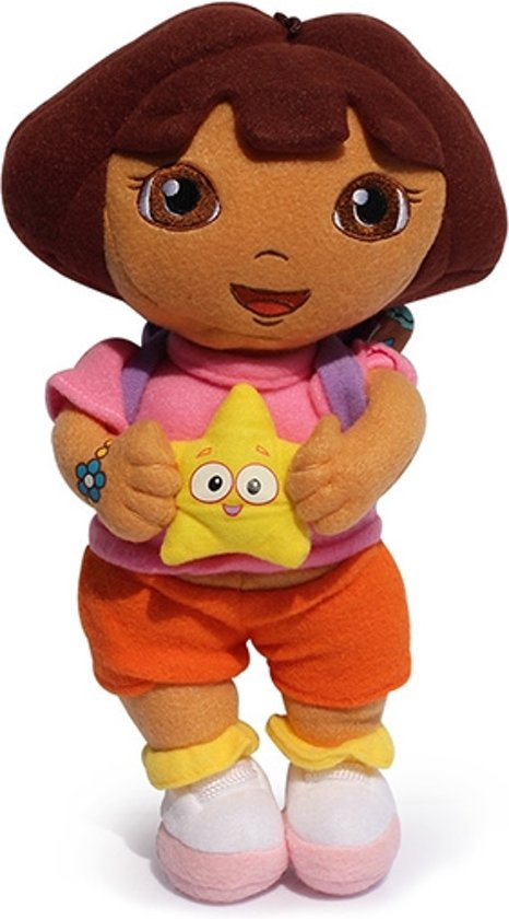 Dora De Ontdekker Dora The Explorer Pluche Knuffel - Dora 35cm
