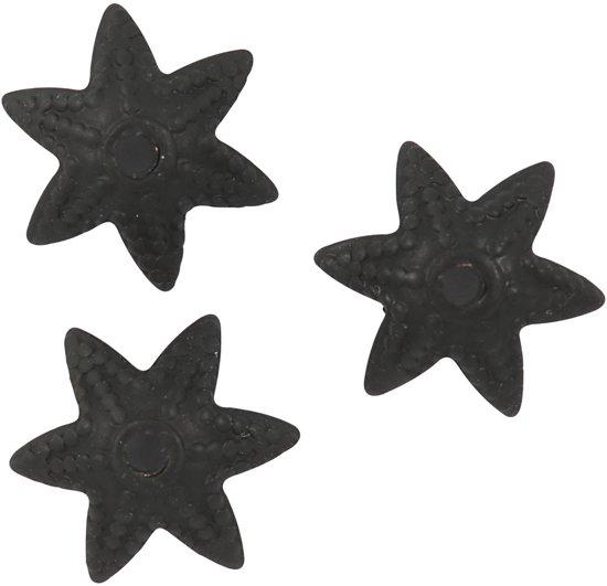 Kralenkapjes, d: 10 mm, zwart, 10stuks