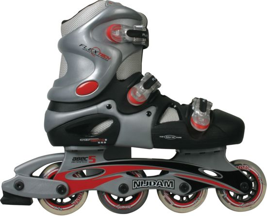 Nijdam Inline skates hardboot - maat 35