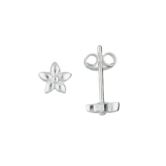 Lilly kinderoorknopjes - bloem - zilver