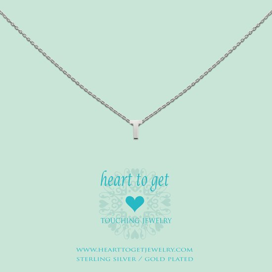Heart to get Inital, silver,  letter T