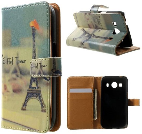 Eiffel tower wallet hoesje Samsung Galaxy Ace 4 G357FZ