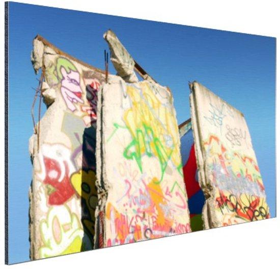 Stukken van de Berlijnse muur Aluminium 90x60 cm - Foto print op Aluminium (metaal wanddecoratie)