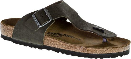 Birkenstock Ramses BS  Slippers - Maat 42 - Unisex - donker groen/bruin