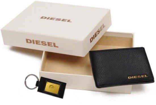 Diesel Portemonnee Dames.Bol Com Diesel Logo Box Portemonnee Zwart