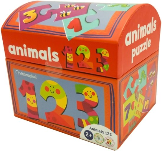 Imaginarium PUZZLE ANIMALS 123 - Kinderpuzzel om te Leren Tellen - Insecten Puzzel