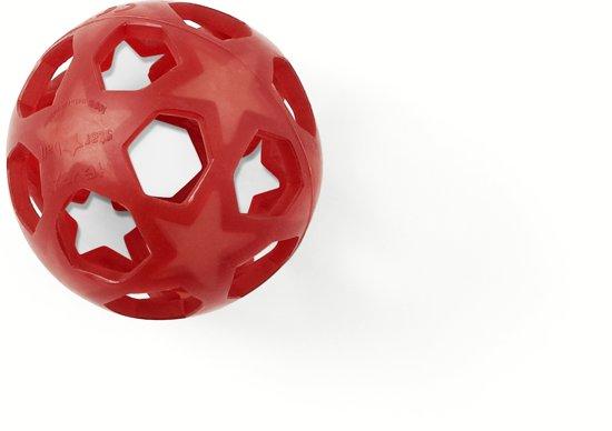 Hevea speelbal ster 100% natuurrubber rood