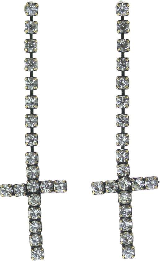 Oorstekers in kruisjesvorm van steentjes