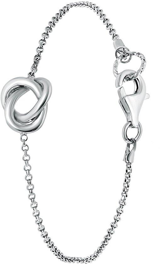 Lucardi - Zilveren armband knoop