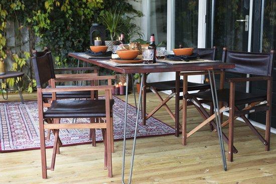 Bol.com maximavida retro vintage hairpin tafel 120 x 80 x 77 cm
