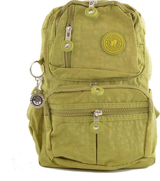 21621ea9f93 bol.com | groen rugzakje van nylon met gebloemde voering