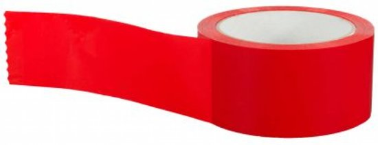 Rode PP-acryl tape 50mm x 66mtr (020.0804)