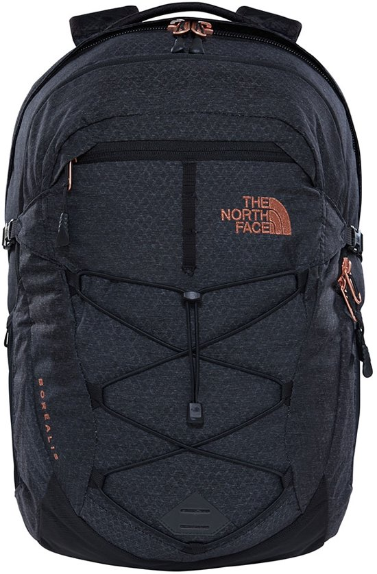 d8f631add The North Face Womens Borealis Black Heather / Burnt Coral Metallic