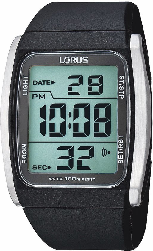 Lorus R2303HX9 - Horloge - Kunststof - Zwart - Ø 40 mm