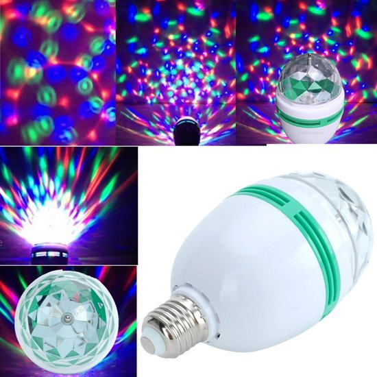 E27 Led laser feest lamp disco party light bol 3W