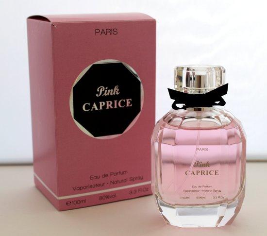 VALENTIJN TIP Bij aanschaf van een Pink Caprice Paris Women een populaire fruitige/ zachte geur. Krijgt u een 100 ml Eau de Parfum in dezelfde geurlijn GRATIS.
