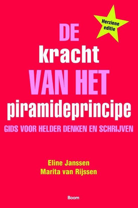 Boek cover De kracht van het piramideprincipe van Eline Janssen (Paperback)