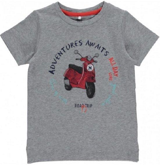 b6da2b14 bol.com | Name It Kids Name It Biker SS Top Grey Melange 13141664-80