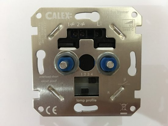 Calex Duo RC dimmer LED 2x 1-45W Gloeilamp 2x100W Fase Afsnijding