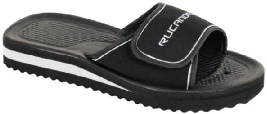 Rucanor Unisex Maat Slippers Bad Zwart wit 47 rf0Zrq