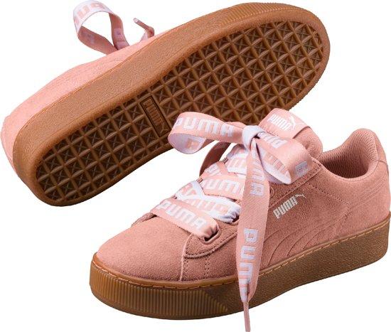 PUMA Vikky Platform Ribbon Bold Sneakers Dames - Peach Beige-Peach Beige