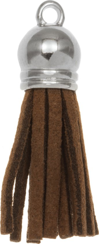 Kwastjes Suede (3.5 cm) Log Brown (5 Stuks)