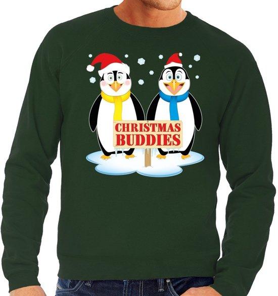 Heren Foute Kersttrui.Bol Com Foute Kersttrui Sweater Pinguin Vriendjes Groen Voor