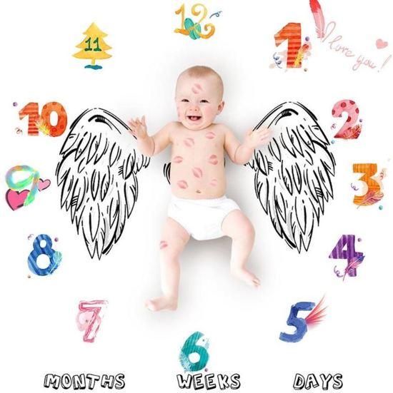 Baby mijlpaaldoek - mijlpaaldeken - milestone - Vleugels