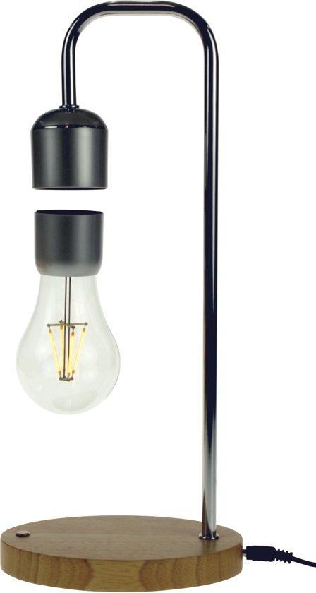 Magnetisch Zwevende Lamp met Eiken Voet