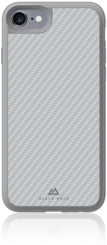 Black Rock Real Carbon - Back Cover - Geschikt voor iPhone 6/6S/7 - Zilver