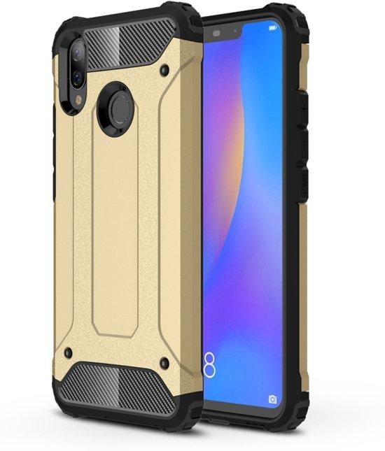 Let op type!! Diamond Armor PC + TPU warmte dissipatie beschermende case voor Huawei Nova 3i (goud)