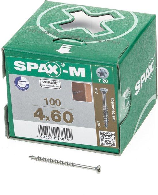 Spax Schroef MDF Verzinkt Torx 4.0 x 60 (100)