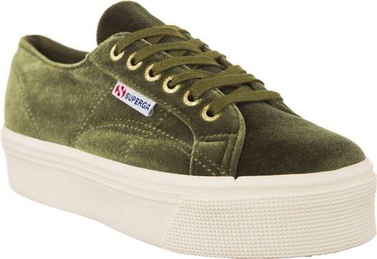d81cd6fe6dd Superga - Dames Sneakers 2790 Velvetw Capolive - Groen - Maat 41