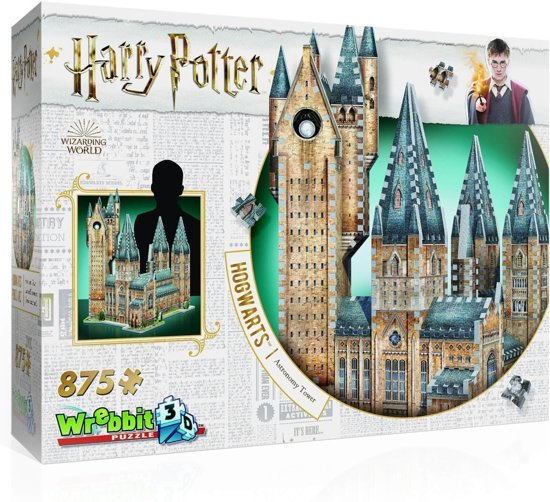 Wrebbit 3D Puzzel - Harry Potter Hogwarts Astronomy Tower - 875 stukjes