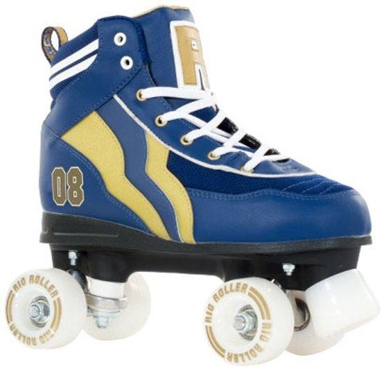 625e65d2b39 bol.com | Rio Roller Rolschaatsen Varsity Blauw/goud Maat 38, Rio ...