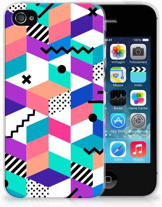 Apple iPhone 4 | 4s TPU Hoesje Design Blocks Colorful