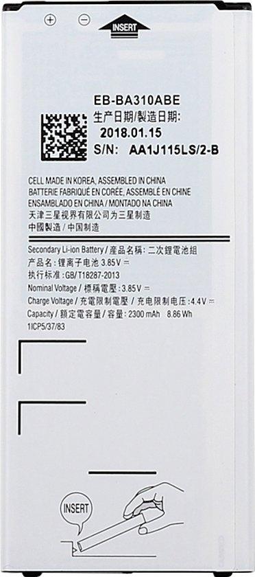 2300mAh oplaadbare Li-ion batterij EB-BA310ABE voor de Galaxy A3 (2016)  A310F  A310F/DS  A310M  A310M/DS  A310Y