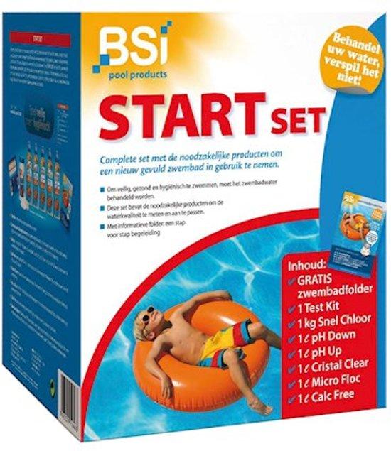 Start set - compelete set een nieuw gevuld zwembad in gebruik te nemen