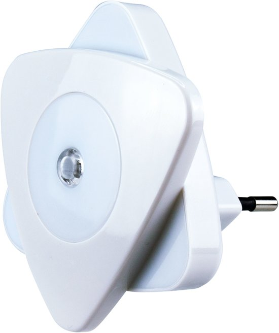 Alecto ANV-20 Nachtlampje | Energiezuinige LED | Met Dag / Nacht sensor | Wit / Blauw