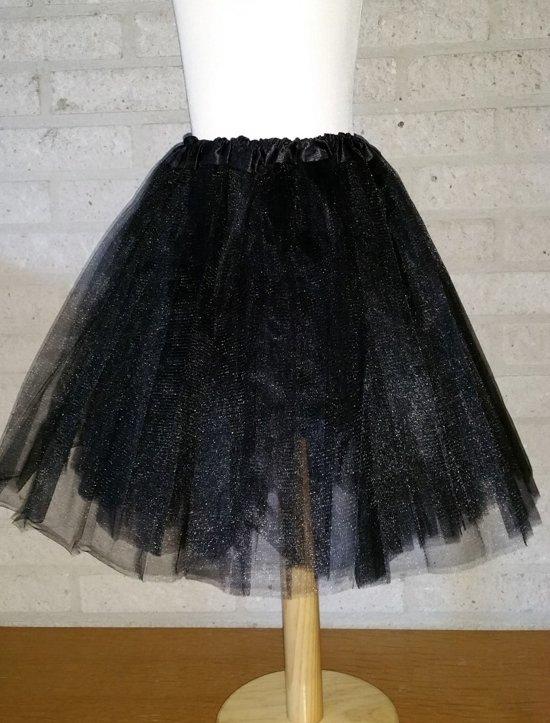b9c0fa47c13 bol.com | Tutu rokje, petticoat kind zwart, CHIAMAX | Speelgoed
