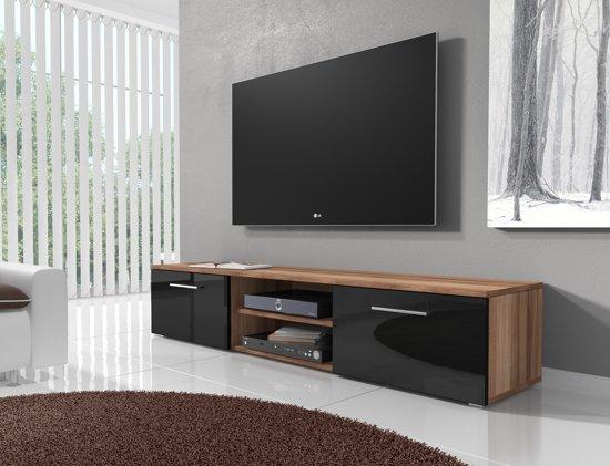 Bol.com meubella tv meubel basura i zwart eiken 160 cm