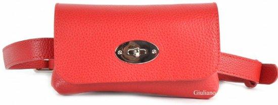 Belt Bag Rood leer met draaisluiting